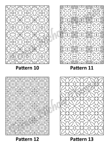 Tranquil Patterns Adult Coloring Book Volume 01 Pic 04