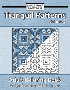 Tranquil Patterns Adult Coloring Book Volume 02 Cover