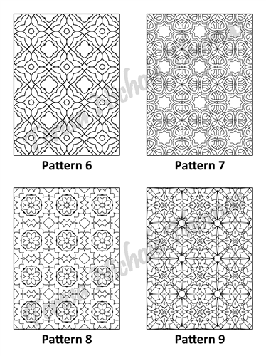 Tranquil Patterns Adult Coloring Book Volume 02 Pic 03