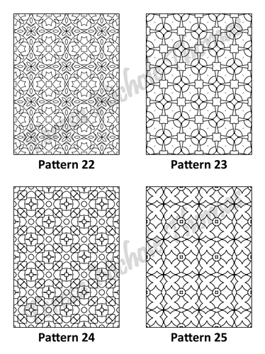 Tranquil Patterns Adult Coloring Book Volume 2 Pic 07