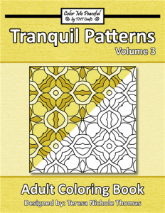 Tranquil Patterns Adult Coloring Book Volume 03 Cover