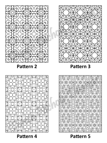 Tranquil Patterns Adult Coloring Book Volume 03 Pic 02