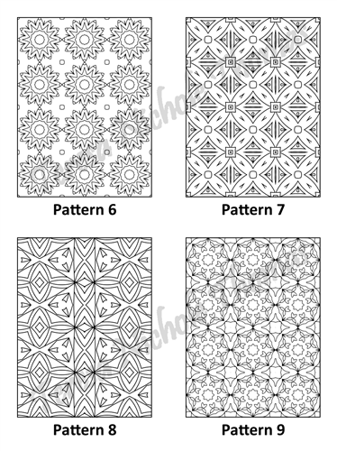 Tranquil Patterns Adult Coloring Book Volume 03 Pic 03