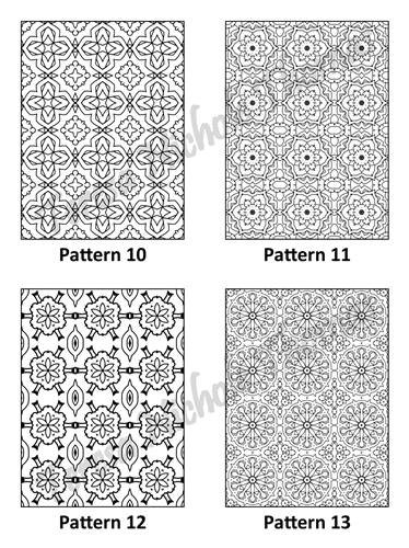 Tranquil Patterns Adult Coloring Book Volume 03 Pic 04