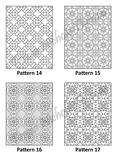 Tranquil Patterns Adult Coloring Book Volume 03 Pic 05