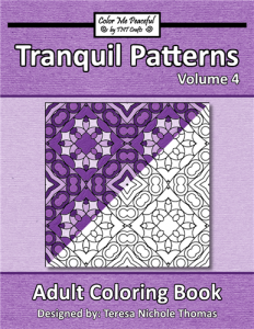 Tranquil Patterns Adult Coloring Book Volume 04 Cover