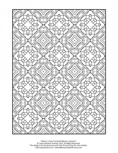 Tranquil Patterns Adult Coloring Book Volume 04 Pic 01