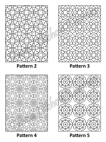 Tranquil Patterns Adult Coloring Book Volume 04 Pic 02