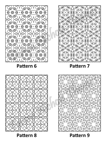 Tranquil Patterns Adult Coloring Book Volume 04 Pic 03