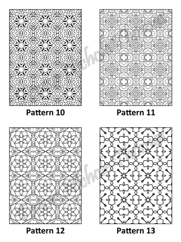 Tranquil Patterns Adult Coloring Book Volume 04 Pic 04