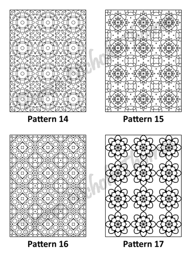 Tranquil Patterns Adult Coloring Book Volume 04 Pic 05