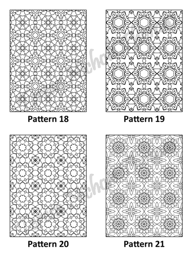 Tranquil Patterns Adult Coloring Book Volume 4 Pic 06