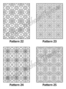 Tranquil Patterns Adult Coloring Book Volume 4 Pic 07