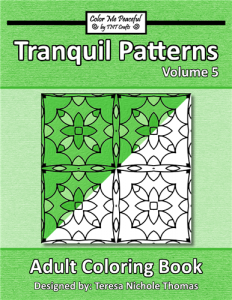 Tranquil Patterns Adult Coloring Book Volume 5 Cover