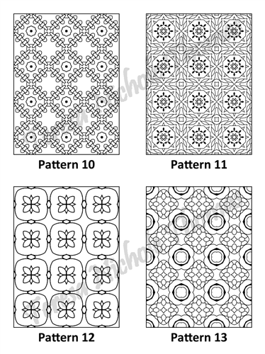Tranquil Patterns Adult Coloring Book Volume 5 Pic 04