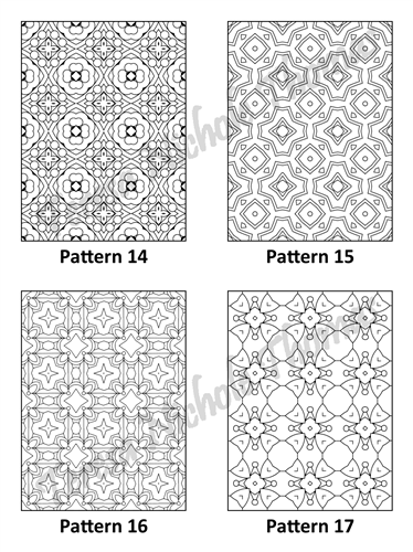 Tranquil Patterns Adult Coloring Book Volume 5 Pic 05