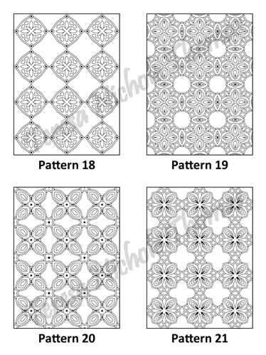 Tranquil Patterns Adult Coloring Book Volume 5 Pic 06