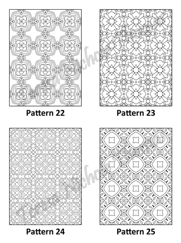 Tranquil Patterns Adult Coloring Book Volume 5 Pic 07