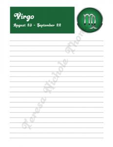 Virgo Zodiac Journal Volume 2 Pic 03