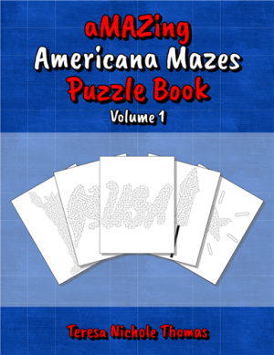 aMAZing Americana Mazes Puzzle Book Volume 1 Cover