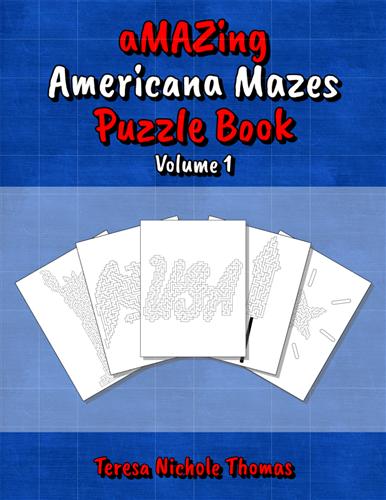 aMAZing Americana Mazes Puzzle Book Volume 1 Cover