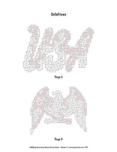 aMAZing Americana Mazes Puzzle Book Volume 1 Pic 07
