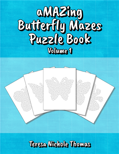 aMAZing Butterfly Mazes Puzzle Book Volume 1 Cover