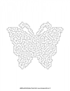 aMAZing Butterfly Mazes Puzzle Book Volume 1 Pic 02