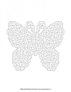 aMAZing Butterfly Mazes Puzzle Book Volume 1 Pic 03