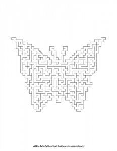 aMAZing Butterfly Mazes Puzzle Book Volume 1 Pic 04