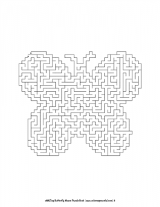 aMAZing Butterfly Mazes Puzzle Book Volume 1 Pic 06