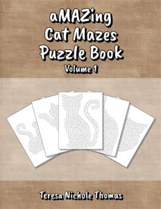 aMAZing Cat Mazes Puzzle Book Volume 1 Cover