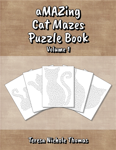 aMAZing Cat Mazes Puzzle Book Volume 1 Cover