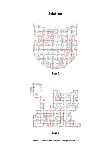 aMAZing Cat Mazes Puzzle Book Volume 1 Pic 07