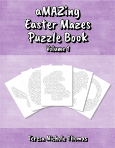 aMAZing Easter Mazes Puzzle Book Volume 1 Cover