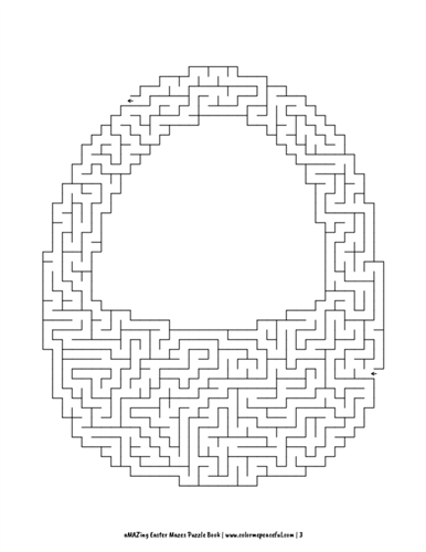 aMAZing Easter Mazes Puzzle Book Volume 1 Pic 03