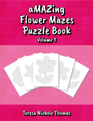 aMAZing Flower Mazes Puzzle Book Volume 1 Cover
