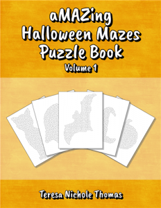 aMAZing Halloween Mazes Puzzle Book Volume 1 Cover