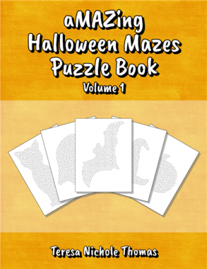 aMAZing Halloween Mazes Puzzle Book Volume 1 Cover