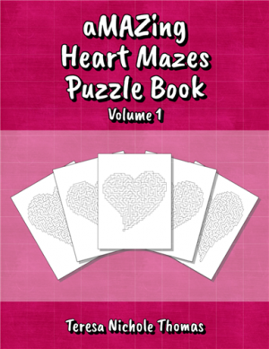 aMAZing Heart Mazes Puzzle Book Volume 1 Cover