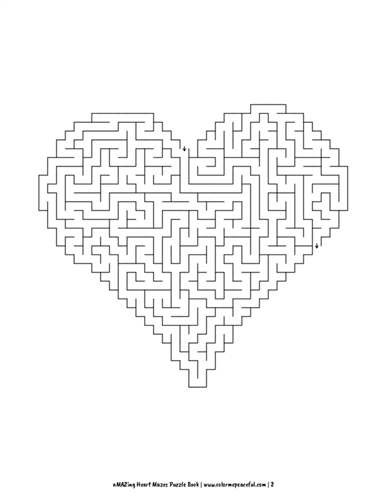 aMAZing Heart Mazes Puzzle Book Volume 1 Pic 02