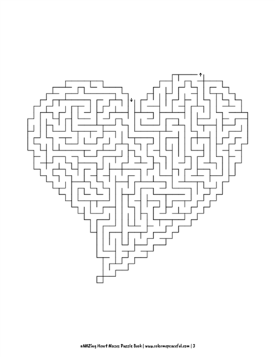 aMAZing Heart Mazes Puzzle Book Volume 1 Pic 03
