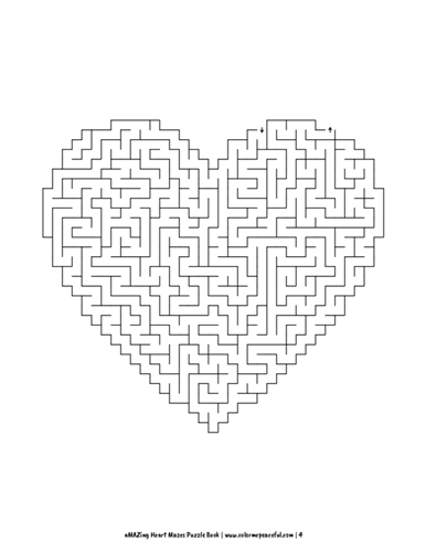 aMAZing Heart Mazes Puzzle Book Volume 1 Pic 04