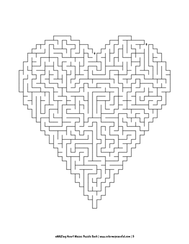 aMAZing Heart Mazes Puzzle Book Volume 1 Pic 05