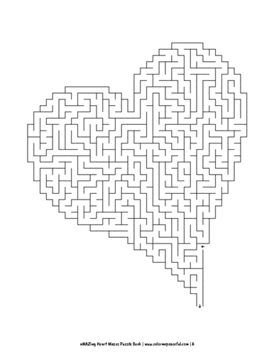 aMAZing Heart Mazes Puzzle Book Volume 1 Pic 06