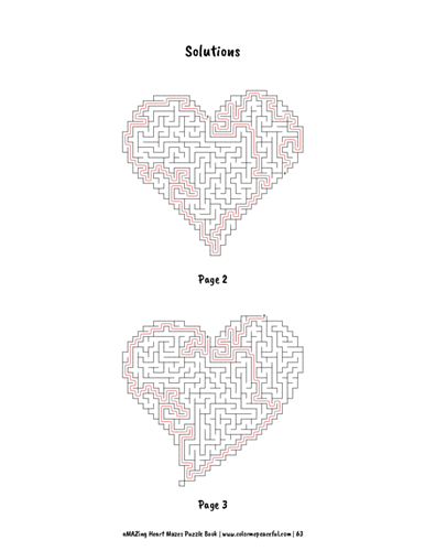 aMAZing Heart Mazes Puzzle Book Volume 1 Pic 07