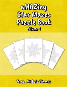 aMAZing Star Mazes Puzzle Book Volume 1 Cover
