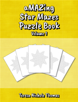 aMAZing Star Mazes Puzzle Book Volume 1 Cover