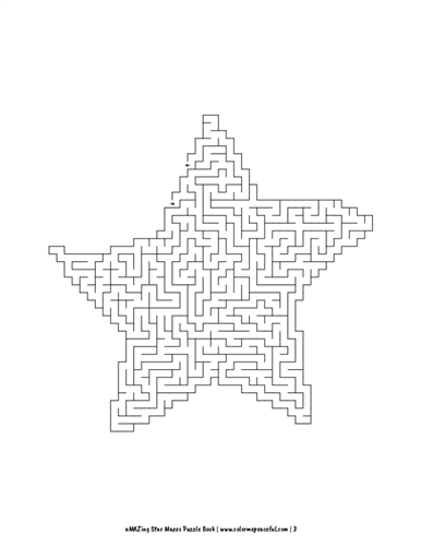 aMAZing Star Mazes Puzzle Book Volume 1 Pic 03