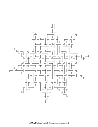 aMAZing Star Mazes Puzzle Book Volume 1 Pic 06